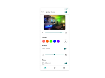 Daily UI 7 - Settings - Light Switching Application