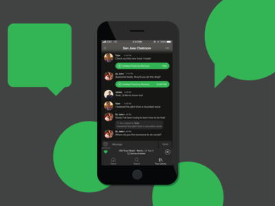 Daily UI 13 - Music Direct Messaging