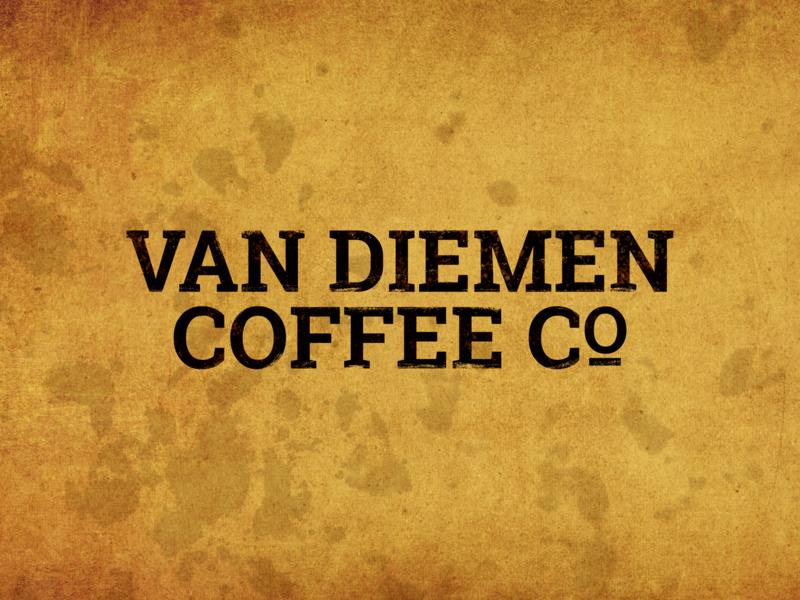 Van Diemen Coffee Co Logo adobe photoshop branding logo adobe illustrator othrs create craft develop design