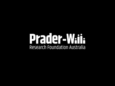 Prader Willi Research Foundation Australia design start up logo illustration typography minimal branding