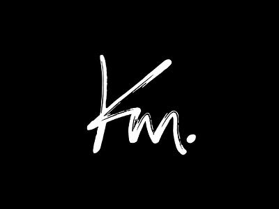 KM flat start up design logo illustration typography minimal branding