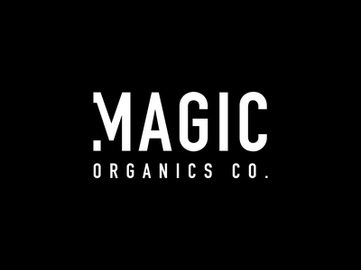 Magic Organics Co. icon website flat start up design logo illustration typography minimal branding