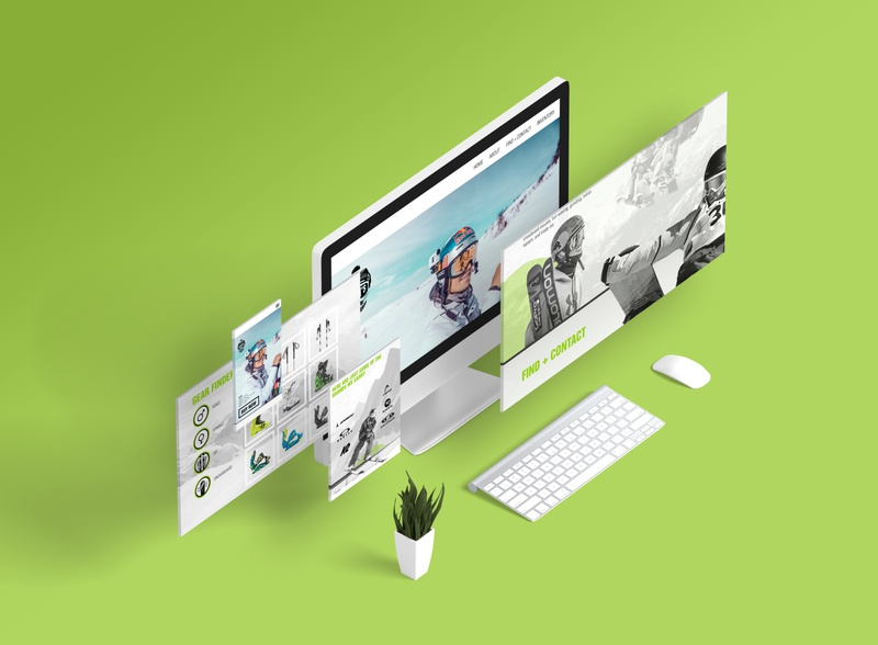 Scott's Skis and Snowboards - website redesign ecommerce branding minimal website web app design desktop ui mobile ui ui ux
