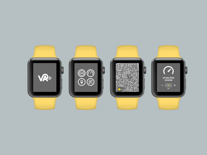 Vehicle Assistant - Apple watch screens minimal illustration web icon ux ui mobile ui design branding app