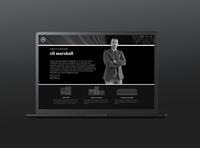 TEG: website section - local founder bio (indianapolis) minimal website ui designer website web design web ux ui typography branding design