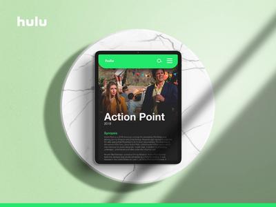 Hulu UI series : 02 - Action Point ui interactions ui animation animation animated mockup mockup entertainment movie hulu web design user experience user interface website web ux ui minimal typography branding design