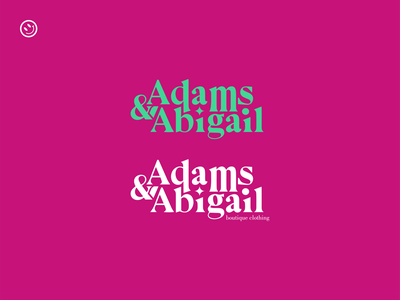 Adams and Abigail - boutique clothing word mark abigail adams typefaces serif font serif logo design logo typographic typography clothing clothing brand logotype wordmark