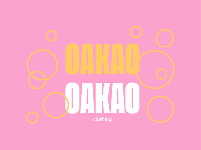 OAKAO - clothing word mark oakao orange pink typography typographic logo design wordmark logotype logo clothing brand clothing