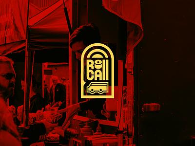 Roll Call Food Truck city red yellow call roll street art street food brand identity branding food truck truck food patch logo patch design patch badge logo badge design badge logo design logo