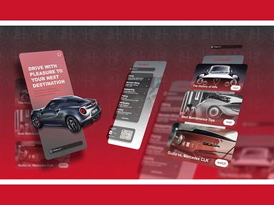 Alfa Romeo - drivers app animation 3d animation 2d animation motion design motion graphics user interface animation user interface after effects website animation web app ux ui