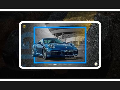 Porsche - website pages animation blending modes 3d animation 2d animation after effects sports cars porsche website car website motion designer motion design motion graphics blueprints web designer web design website animation website animation web app ux ui