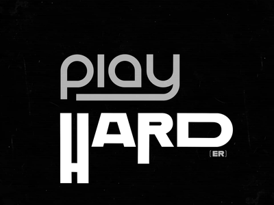 work hard, play hard(er) play hard work 2d animation motion design motion type design type animation after effects animation vector typography