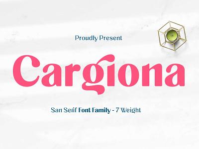 Cargiona - Sans Serif Font Family stylish ligature fashionable casual fancy classy clean design authentic typogaphy lettering packaging label font clean logotype branding feminine beauty font family sans serif