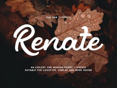 Renate - Modern Script Typeface