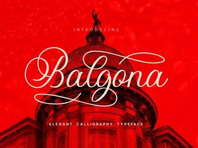 Balgona - Elegant Calligraphy Typeface