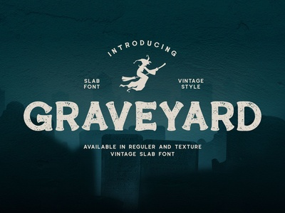 Graveyard - Vintage Slab Font Available In Regular And Texture