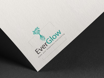 Everglow simple logo design