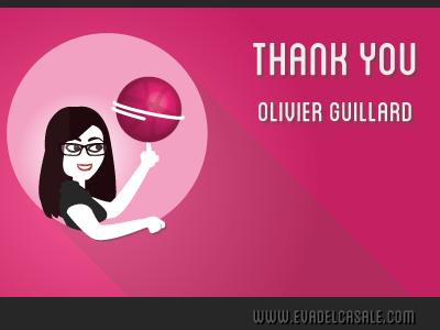 Thanks Olivier!  debut first shot thank you illustration