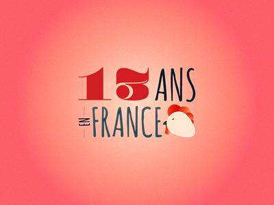 13ans En France grain vintage retro 13 rooster france illustration