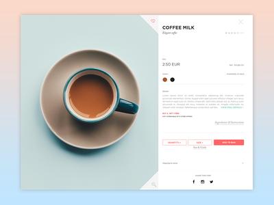 Daily Ui Day #012 ui product web minimal clean shop coffee e-commerce 012 dailyui