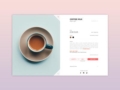 Daily Ui 012 V2 web ui shop product minimal e-commerce dailyui coffee clean 012