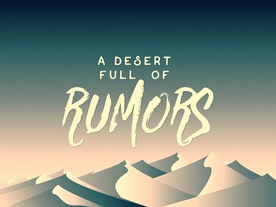A desert full of rumors  dunes vector landscape illustration design desert