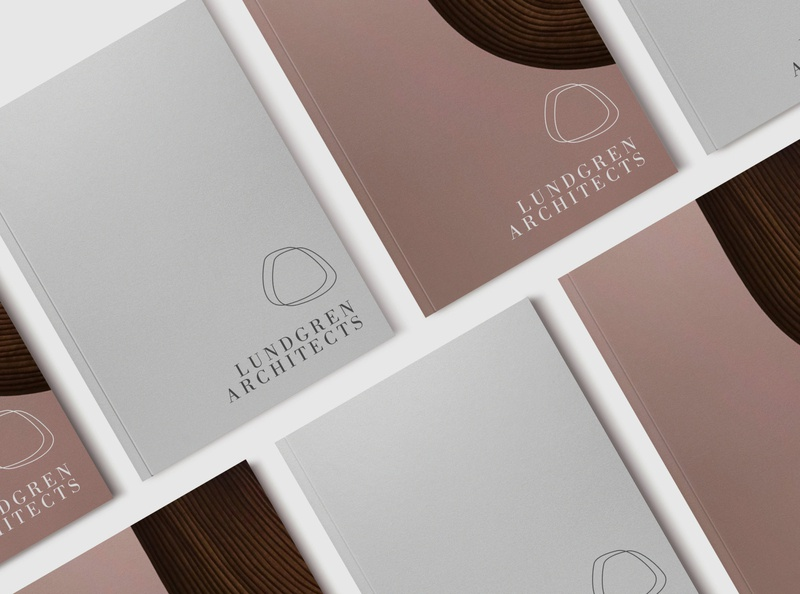 LUNDGREN ARCHITECTURE // BRANDING brochure design print logo design branding
