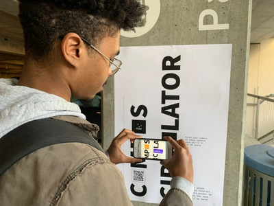 Finding the Campus Bus | AR Poster bus stop mobile javascript html css coding poster interactive uiux augmented reality
