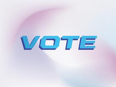 Vote! texture gradient playful design vote