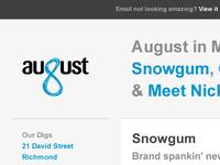 August eNewsletter