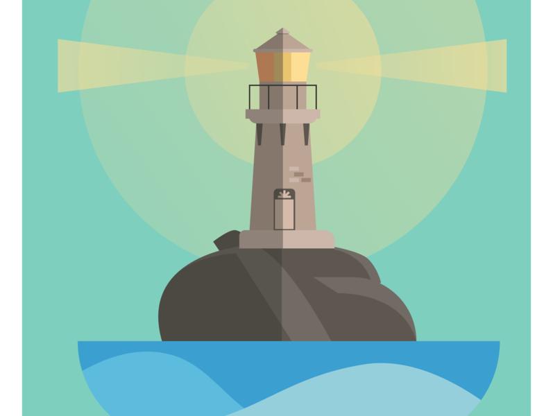 Lighthouse ocean light lamp sea lighthouse