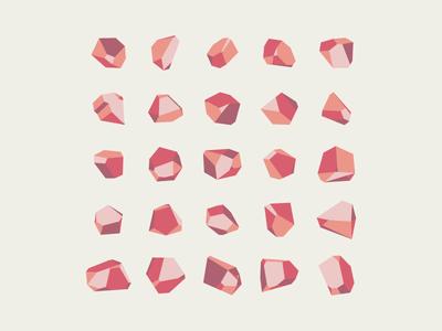 Crystals crystal icon cube vector polygon