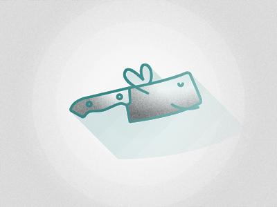 Knife store vegan butchery hachoir knife chopper icon