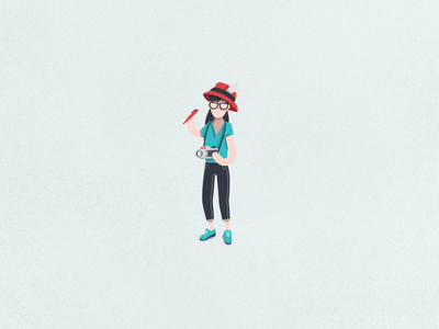 Hello! question photo girl illustration icon character