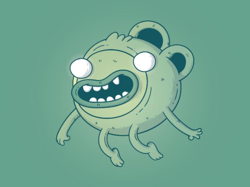 Cute monster cartoon drawing ilustration