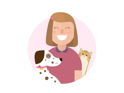 Mom and pets