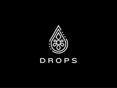 Drops drops coffee tattoo logo identity