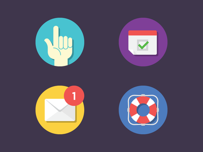 Rejected Icons icons illustration hand calendar mail help