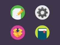 Rejected Icons 2 icons illustration notes settings downloads journal