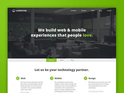 The new Webonise website