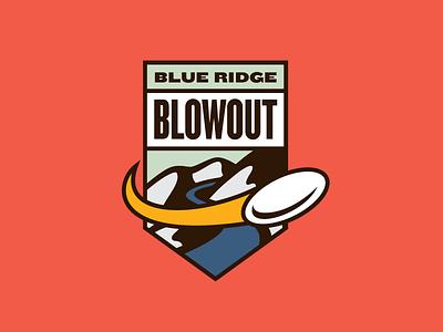 Blue Ridge Blowout blue ridge blowout appalachian state university asu ultimate frisbee tournament logo identity