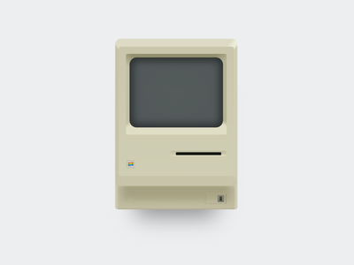 Macintosh illustration made in CSS apple macintosh mac illustrator 80s vector minimalistic retro electronics front-end web css3 gradients css illustration design