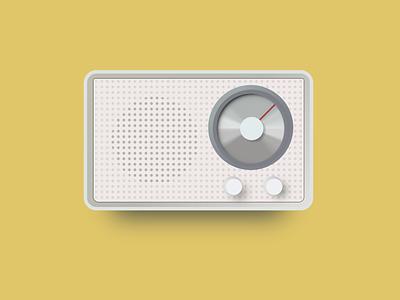 Braun Radio illustration (CSS) shadows gradients retro design retro radio web css3 vector illustration 3d product design product css minimalistic design