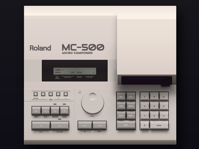Roland MC-500 made in HTML & CSS gradients shadows gradient css3 drawing photorealism skeumorphism skeumorphic digitalart art illustrations vintage retro music synth html design css web illustration
