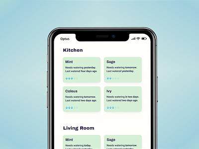 WIP: Plant watering app draft wireframe figma sketch wip native app application app mobile app design mobile app mobile ios app ios typography colors design ui minimalistic