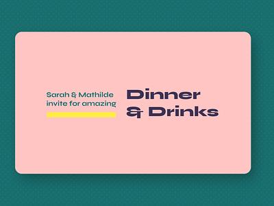 Dinner invite concept rainbow colorful personal logo web card design card invitation invite visual identity visual design design ui type branding logo personal colors typography