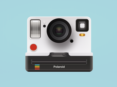 Polaroid Camera made in CSS skeuomorphism skeuomorphic camera icon html gradient icon gradients drawing icon minimalistic personal web vector rainbow css3 gradient illustration design camera polaroid css