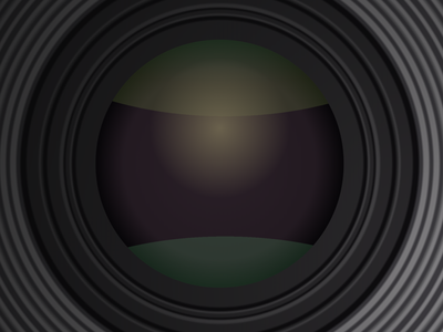 Lens of polaroid camera in CSS personal vector illustration web skeuomorphic lens camera polaroid reflective reflections gradients gradient css design reflection