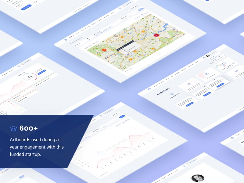 Risk mitigation SaaS web app isometric web app ux design ux map dashboard gradient startup saas fact