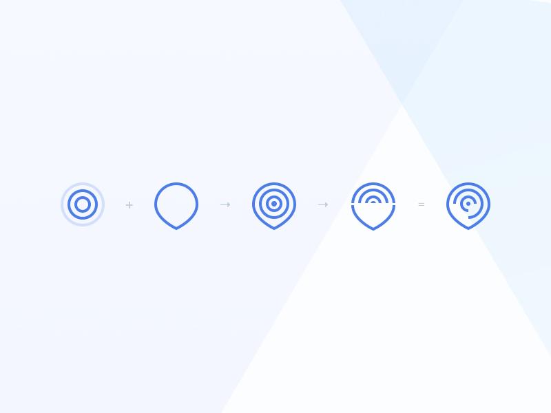 SaaS risk mitigation brand identity location pin pulse modern blue startup logo startup branding identity brand branding mark